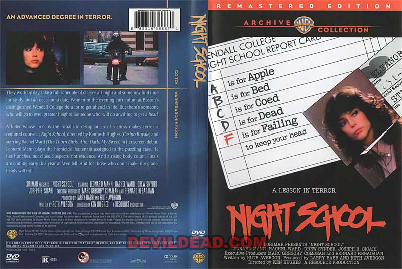 night school  1981    dvd  hd  blu-ray covers