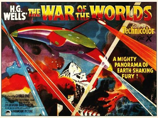 war of the worlds 1953 poster. POSTER. WAR OF THE WORLDS