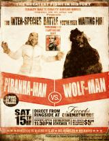 PIRANHA MAN VS WOLF MAN  - Poster