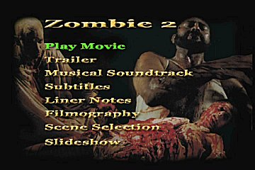 Menu 1 : ZOMBIE 2 (L'ENFER DES ZOMBIES)